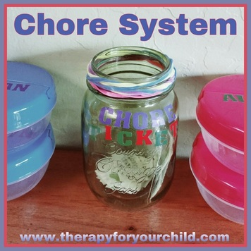 Chore chart system for children