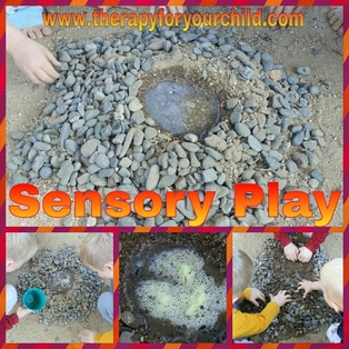 Sensory play with children : a volcano